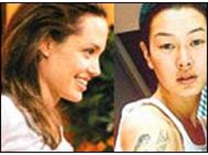 Hamile Angelina aslında lezbiyen!